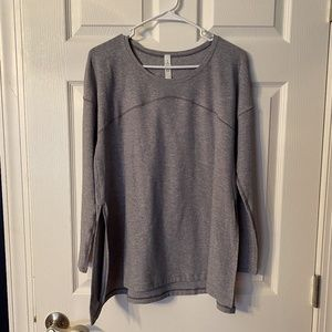 Lululemon Hit Unwind Tunic Top Gray Size 6 NWOT